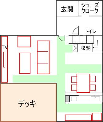 デッドスペース間取り図(色分け)