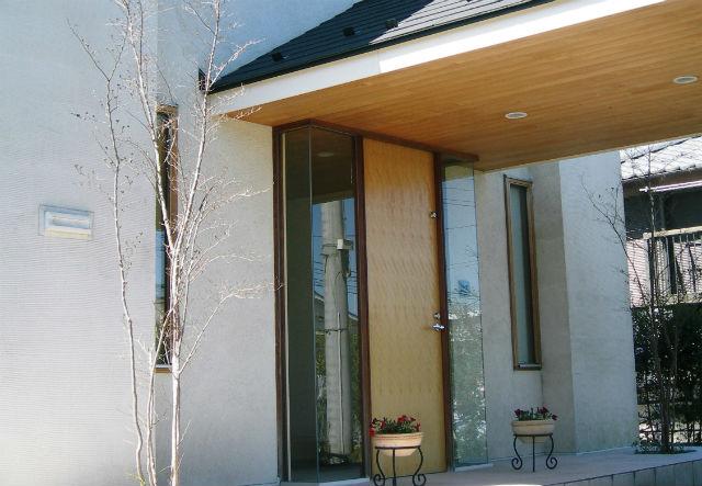 玄関ドア側面のガラス