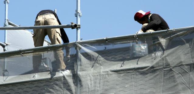 外壁と屋根の工事
