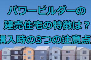 パワービルダーの建売住宅の特徴は?